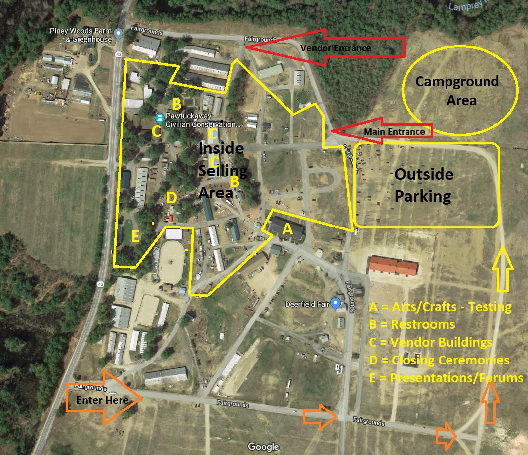 labeled map  u2013 deerfield fairgrounds  u2013 near